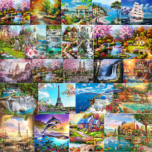 5D DIY Full Drill Diamond Painting Landscapes Cross Stitch Embroidery Kits UK