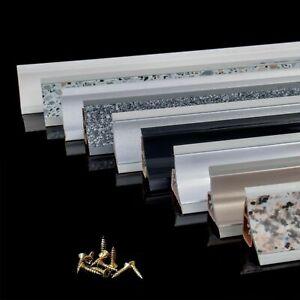 1,5m - 3m WINKELLEISTEN Küchen Arbeitsplatten 23mmx23mm Abschlussleiste