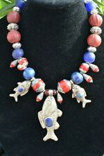 Awesome Bold Chunky OOAK Statement Necklace Big Bead Fish JEIQUE House lagenlook