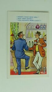 USA Linen Postcard 1930s Comic Joke Funny Before /& After Mineral Wells Texas LX5