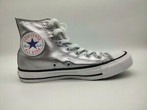 Converse Chuck Taylor All Star CTAS Hi Boot Sneaker Turnschuhe Silber 153177C