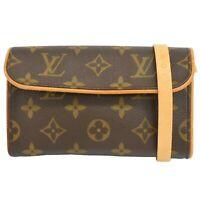 Louis Vuitton Pochette Florentine M51855 Monogram Waist Pouch Belt Bag Case LV