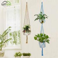 Multi-color Macrame Plant Hanger Home Garden Flower Pot Holder Hanging Ropes B9