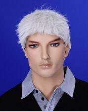 Männer Perücke Wig JM-W01 Mann Mannequin Schaufensterpuppe Haare Weiß Silber