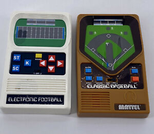 VINTAGE MATTEL 1977 ELECTRONICS FOOTBALL GAME & 2001 Mattel Classic Baseball