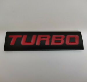 Rouge Noir Métal Turbo Badge Plaque Emblème Pour BMW 1 2 3 4 5 6 7 8 Série 1M M3