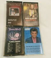 Vtg Country Cassette Lot David Allan Coe Conway Twitty Ronnie Milsap Tumbleweed