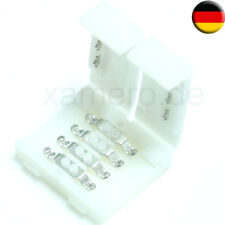 10x RGB LED Strip Leiste Schnellverbinder Adapter Verbinder Stecker Connector