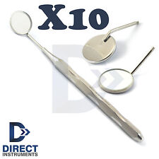 X10 Dental Mouth Mirror Handle With Mirror Examination Teeth Inspection Cleaning