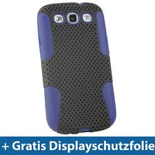 Silikon Tasche & Schwarz PC Masche für Samsung Galaxy S3 III i9300 Android