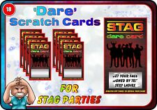 Stag Party DARE Scratch Cards Funny Scratchcards Wedding gift Invitations Groom