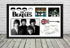 More details for the beatles signed photo print autographed poster memorabilia