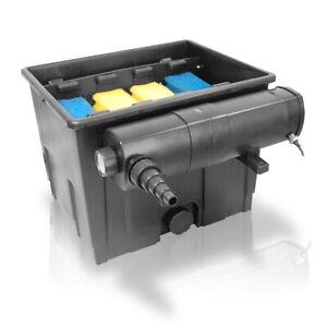 Teichfilter Set 12.000 Liter + UVC Wasserklärer Lichtfilter UV-C Gerät 18 Watt