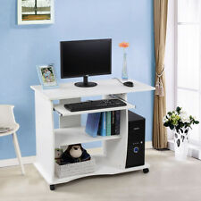 SONGMICS Computer Desk Study Table Movable Portable Trolley Workstation I