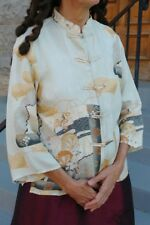 Citron of Santa Monica Brand Women's Asian Style Silk Blouse or Jacket size S