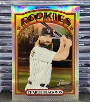🔥2021 Topps Heritage #305 Charlie Blackmon Chrome Refractor /572 HTF SP Rockies