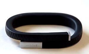 Jawbone UP Wristband MEDIUM Black Onyx Fitness Diet Tracking Bracelet arm iphone