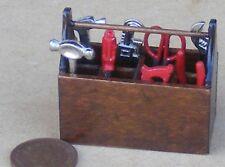 1:12 scala casa delle bambole Strumento 7 Pezzi Set fisso in una scatola in legno accessorio da giardino