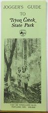 1970's Tryon Creek State Park Jogger's Guide Portland Oregon brochure & map b