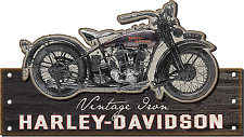 "New 40"" Harley-Davidson Motorcycles Vintage Iron Rustic Wood Sign: CU-VI-HARL"