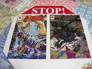 VALIANT COMICS E/LOT OF 2 NIN JAK #2 1993, #1 1994