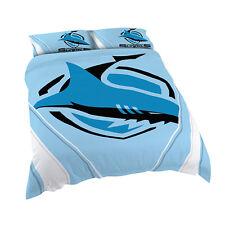 Cronulla Sharks NRL DOUBLE Bed Quilt Doona Duvet Cover Set NEW 2017* GIFT