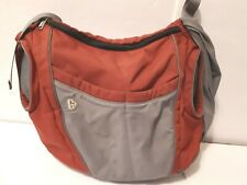 GoGaGaLife Baby Diaper Bag with Changing Pad color red and gray