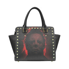 Michael Myers Halloween Women's Studded Rivet Leather Bag Horror Purse Handbag