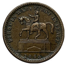 Xf/Au 1863 First In War,First In Peace (George Washington On Horse)Cwt