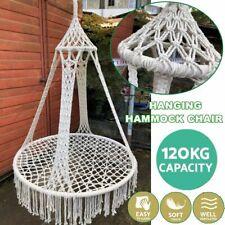 Nordic Style Round Hammock Swing Hanging Chair Outdoor Indoor Garden Furniture