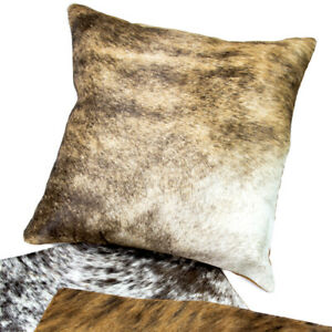 New Cow Hide Cushion Covers - Brown/Brown White - CH-11Cushion CoverBrigalow Bou