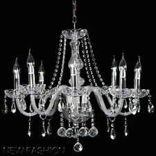 Marie Therese 8 light Clear Crystal droplet Chandelier Pendant Lamp