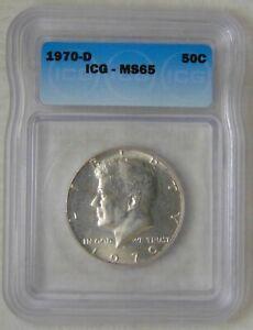 MS 65, 1970 D Kennedy Silver Half Dollar, NICE TONING!