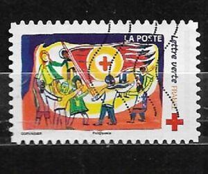 FRANCE oblitéré 2017 Croix rouge dessin 4 Y&T N° AA1425