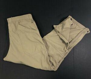 LL Bean Mens L-Reg 288085 Khaki Nylon Fishing Camping Trail Hiking Pants Ins 30