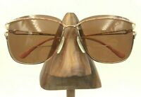 Vintage Tura Gold Metal Pink Brow Square Sunglasses FRAMES ONLY