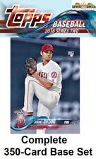 2018 Topps Series 2 Baseball COMPLETE (350) BASE CARD SET 351-700 Shohei Ohtani+