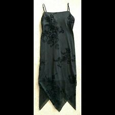 Black Sparkly Handkercheif Prom Dress M City Triangles