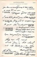 1880 Stampa ~ Autografi 18/19th Secolo ~ Inc Napoleone Bonaparte ~ Lord Byron