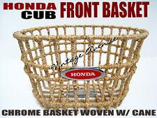 HONDA C50 C65 C70 C90 CM90 CM91 FRONT BASKET WOVEN W/ CANE [R]