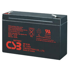 CSB GP 6120 F2 Rechargeable Sealed Lead Acid Battery 6V 12Ah GP6120F2 SLA