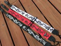 Coloured Guitar Strap -IBANEZ TATTOO PATTERN EXCELLENT QUALITY