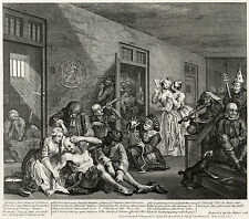 Hogarth Print Reproduction: A Rake's Progress: Madhouse, Plate 8: Fine Art Print