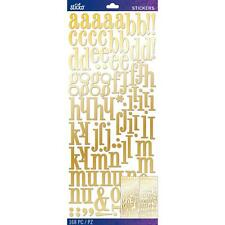 EK Success Sticko Gold Foil Stickers Alphabet, Numbers Craft, Dimensional 168/pk