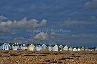 Beach huts Mudeford Hengistbury Head Dorset photograph picture poster art print