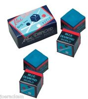 4 Pieces Of Blue Diamond Pool Chalk - Longoni Premium Quality Billiard Chalk