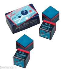 4 Pieces Of Blue Diamond Pool Chalk - Longoni Premium Quality Billiard Chalk