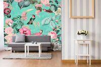 BLUMEN VOGEL KOLIBRI NATUR Wandbilder xxl Bilder Vlies Leinwand g-C-0080-b-m