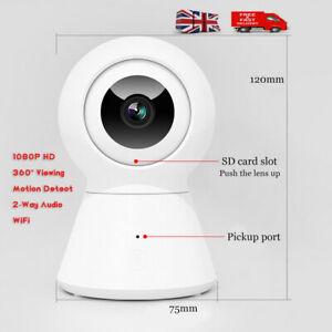 1080P HD WiFi Smart Security Camera Baby Cat Monitor Wireless Audio Night Visio