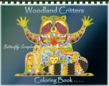 Coloring Book Woodland Critters Animal Spirits 15 Pages EARTH ART Sue Coccia New